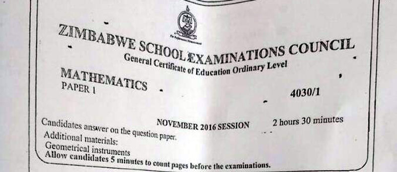 Rumours of leaked Zimsec Maths paper circulate on social media