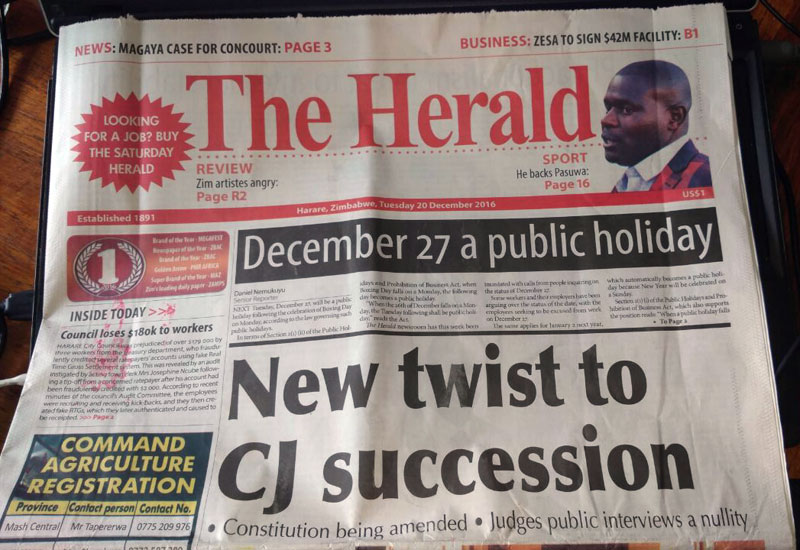 Why Mugabe has it easy in the selection of Judges, and why the Herald is wrong