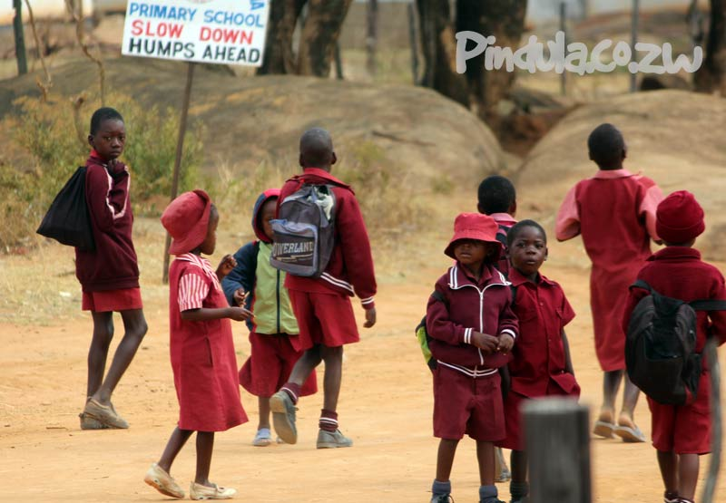 Primary School Children Outside