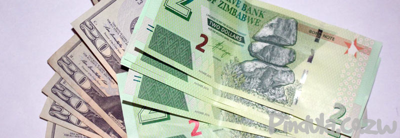 Zimbabwe bond notes and United States Dollars