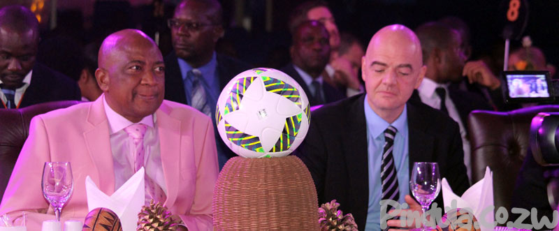 Phillip Chiyangwa With Zifa Boss Gianni Infantino