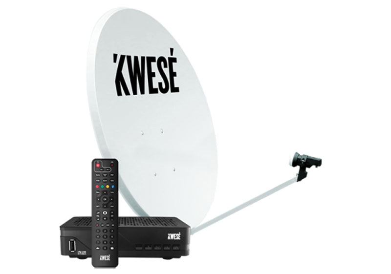 Kwesé TV Dish, decoder and remote