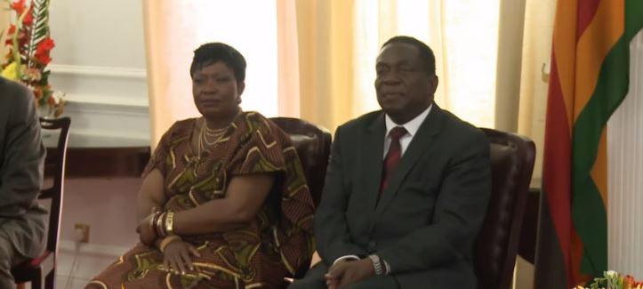 First Lady Auxillia Mnangagwa With Emmerson Mnangagwa