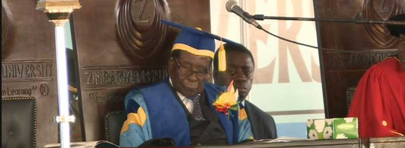 Robert Mugabe Sleeping at Graduation