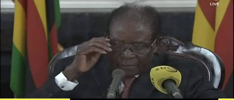 Robert Mugabe Address On ZBC TV