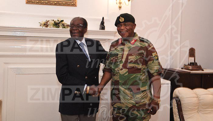 Robert Mugabe and Constantino during operation restore legacy 2017