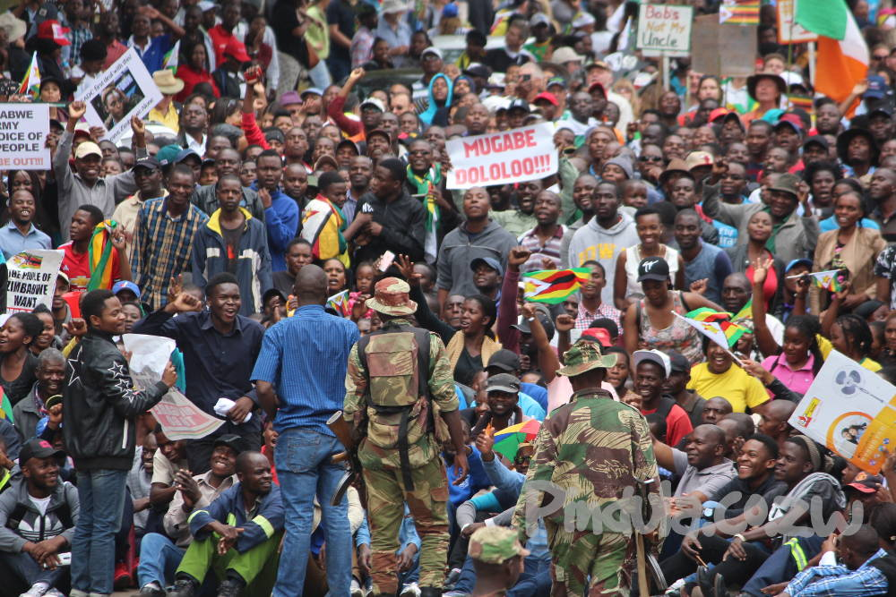 Protest Against Mugabe