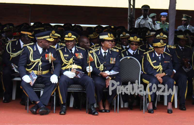 ZRP Commissioners and Leaders At Mnangagwa Inauguration