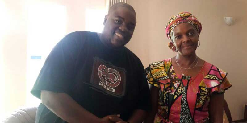 Wicknell Chivayo and Grace Mugabe in Mazoe