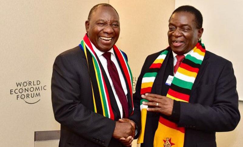 Emmerson Mnangagwa, Cyril Ramaphosa WEF