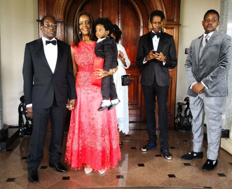 Robert Mugabe, Grace Mugabe, Family