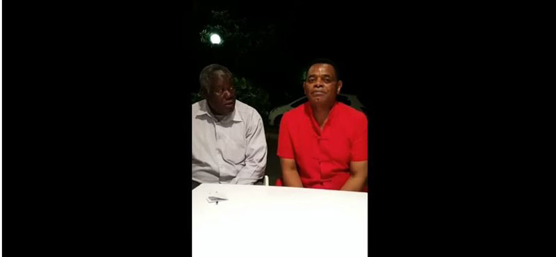 Morgan Tsvangirai's brother Collins with Mutumwa Mawere