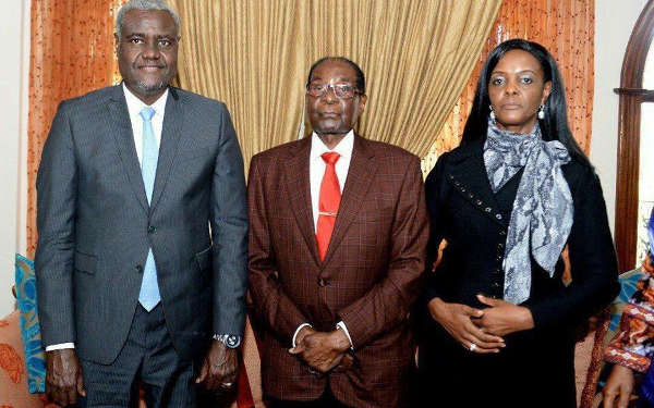 Robert Mugabe, Grace Mugabe AU Chair