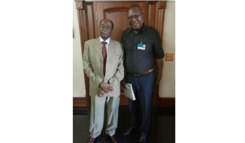 New Patriotic Front Leader Ambrose Mutinhiri Meeting Robert Mugabe