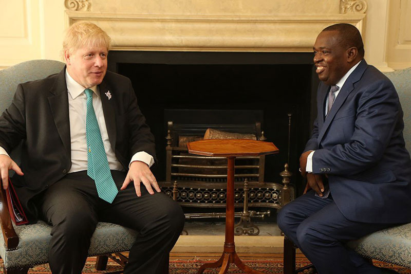 Sibusiso Moyo and Boris Johnson