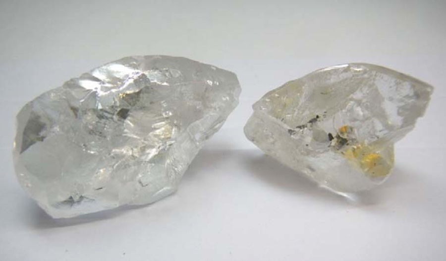 Two Large Diamonds