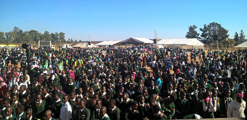 School Children Zanu-PF Rally