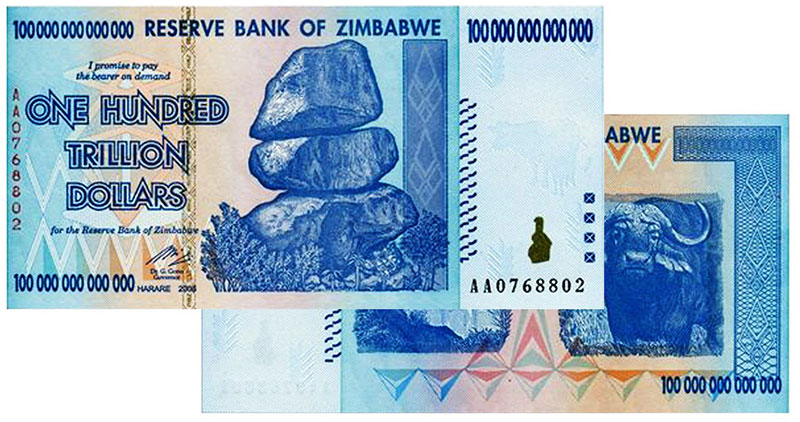 Zimbabwe Dollar, 100 Trillion