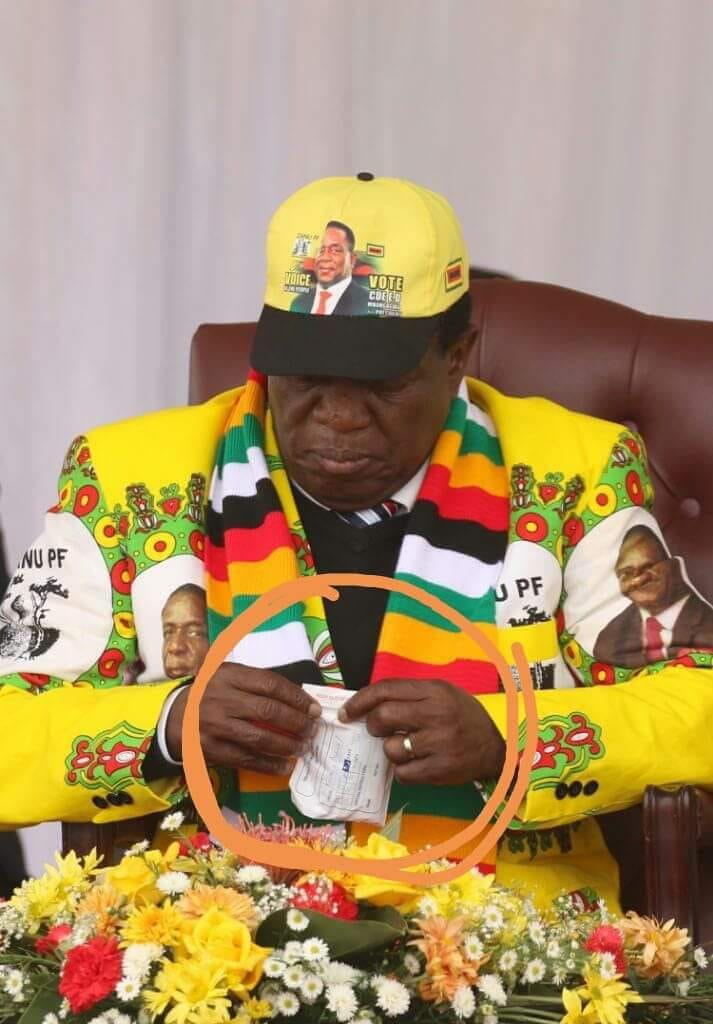 Mnangagwa Taking Pills