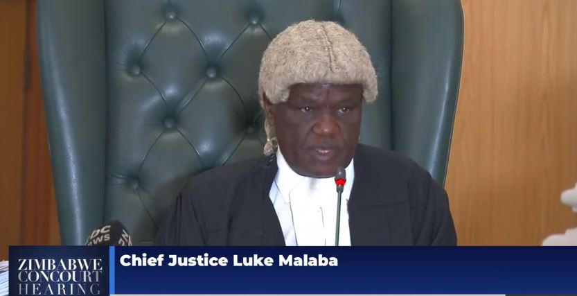 Chief Justice Luke Malaba Chamisa Petition JSC Moving causeway extend tenure term extension ouster Justice ziyambi appeal term