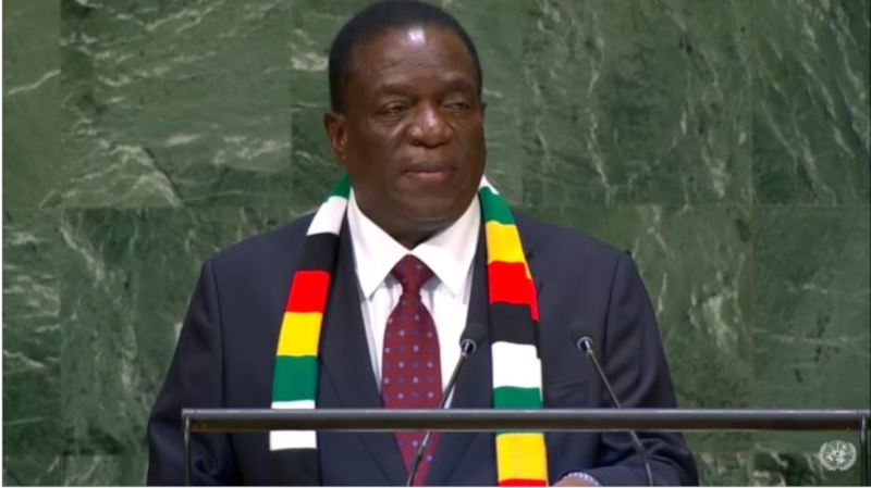 Emmerson Mnangagwa, United Nations General Assembly