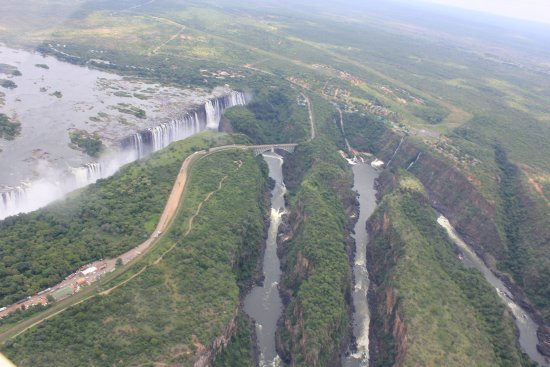 Gorges below the Victoria Falls waterfall
