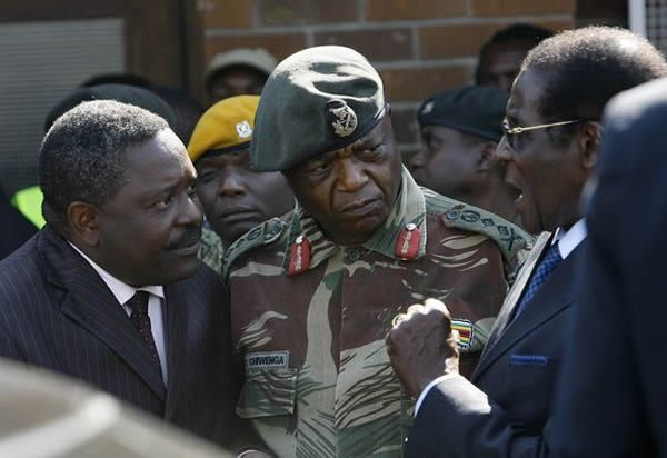 Robert Mugabe Army commander Constantino Chiwenga Head of Zimbabwe Central Intelligence Organisation (CIO) Happyton Bonyongwe