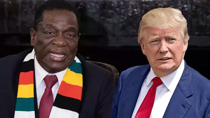 Emmerson Mnangagwa and Donald Trump