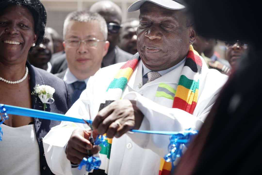 Mnangagwa Beitbridge Border Post modernised Kazungula blair toilets president commissioning