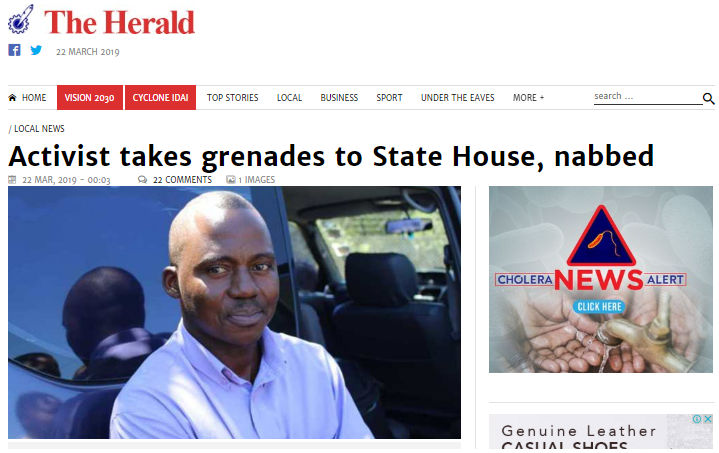 Freed Journalist To Sue The Herald Over Grenade Fake News