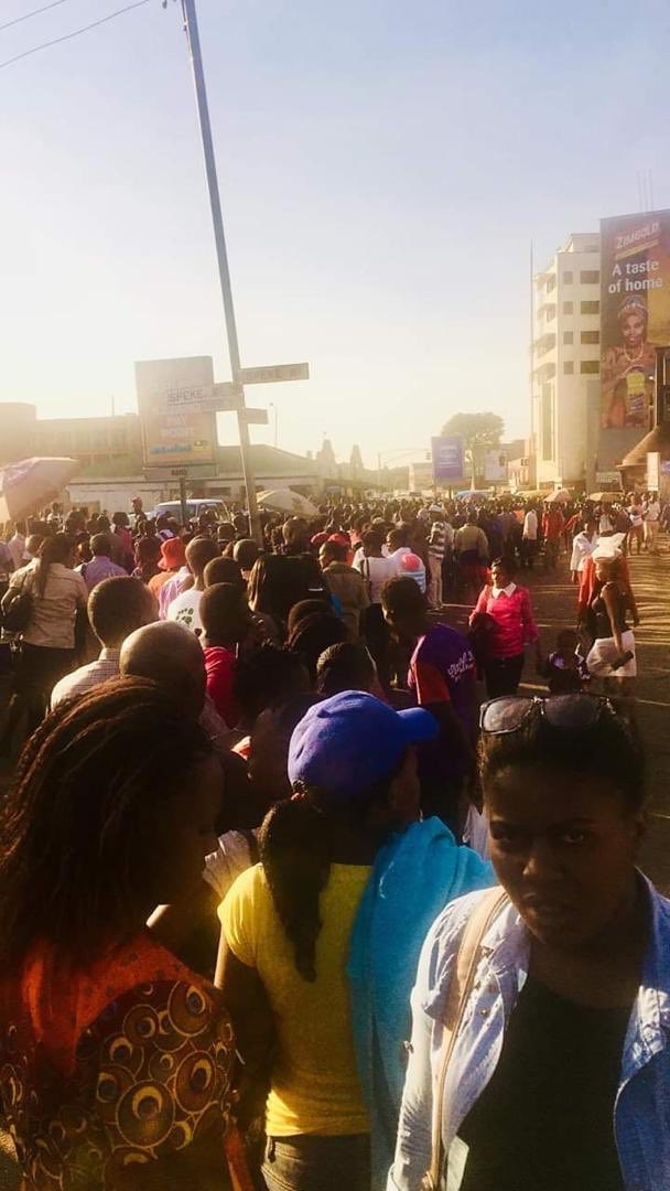 Picture: Crowds Throng Bus Termini For 'Free' ZUPCO Buses