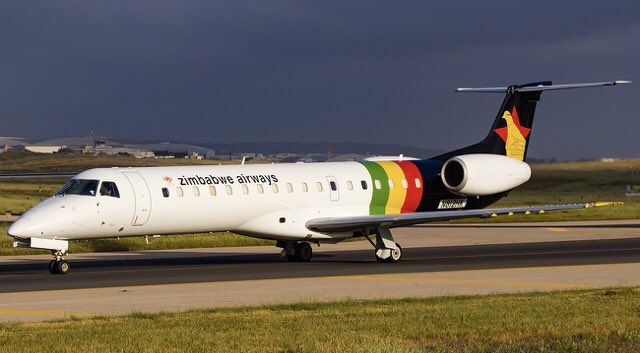 PICTURE: Air Zimbabwe 's New Plane Acquired From Embraer