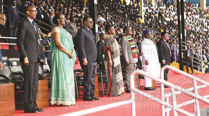 Zimbabwe President Mnangagwa ED IN RWANDA KAGAME & OTHER PRESIDENTS genocide