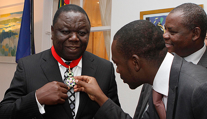 Morgan Tsvangirai Nelson Chamisa French award