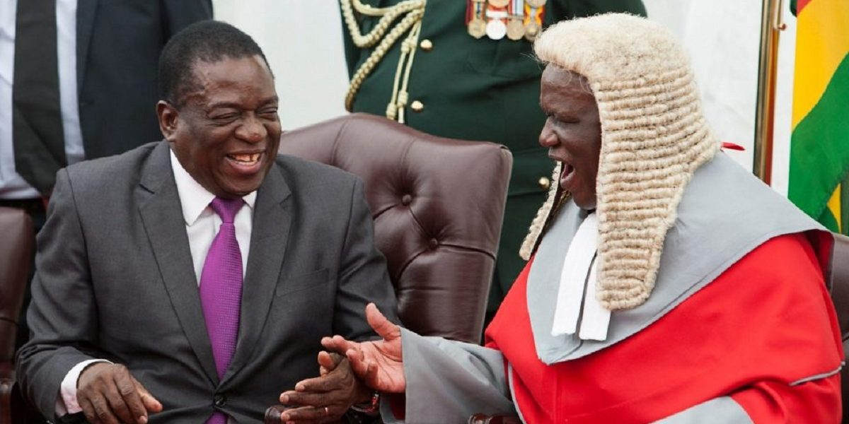 Justice Luke Malaba and Presient Emmerson Mnangagwa Constitution Amendment