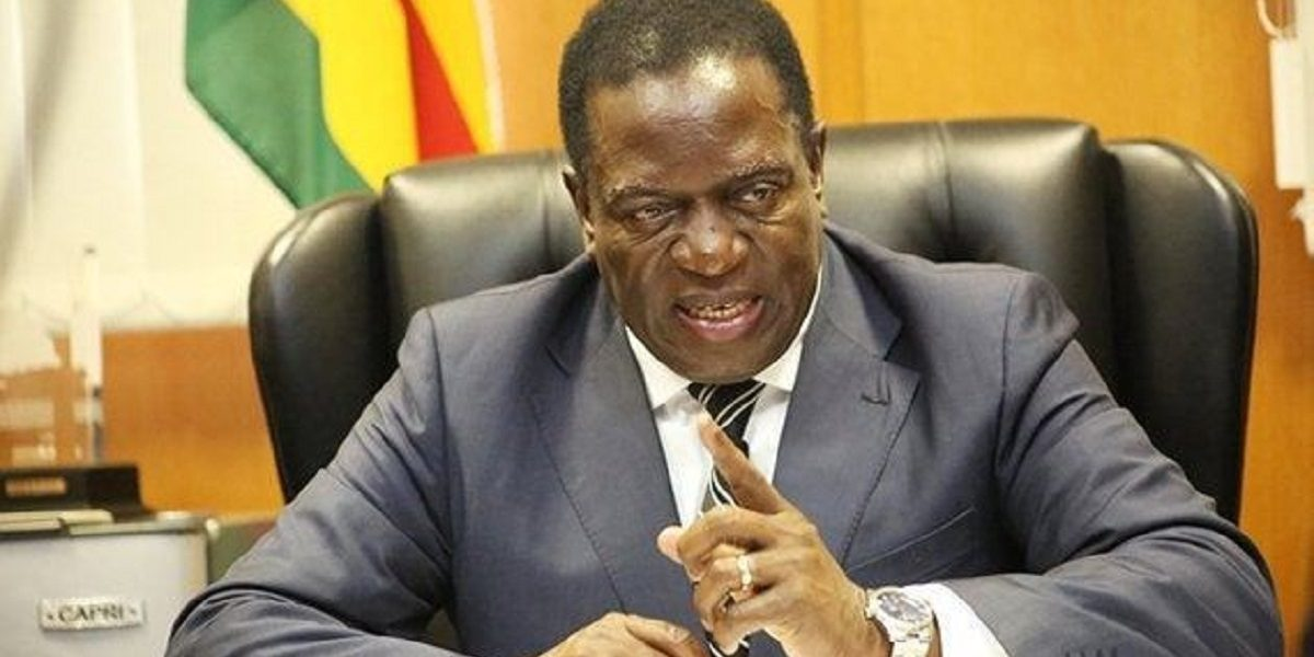 Emmerson Mnangagwa Pointing riot act