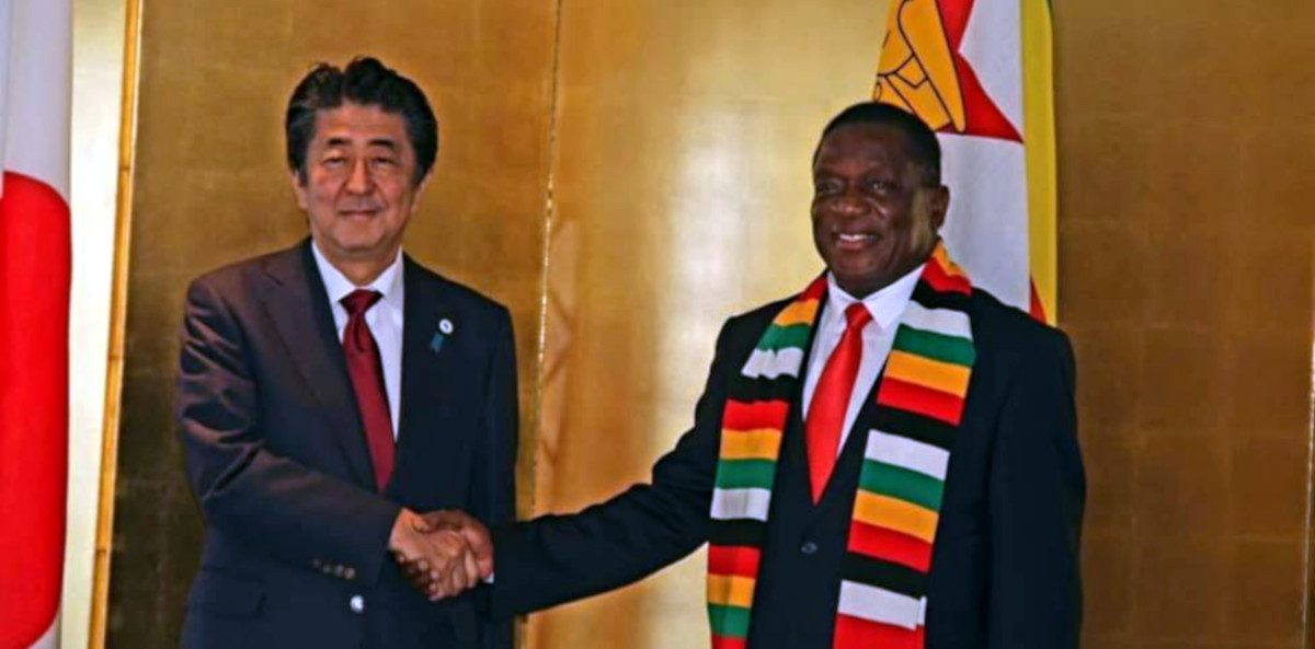 Mnangagwa Abe Japan Zimbabwe Food donates