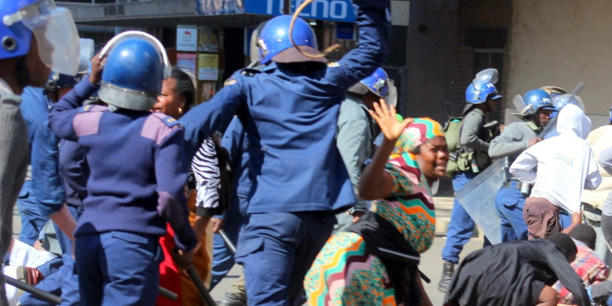 Police-Brutality On Woman MDC Alliance 16 August Demos