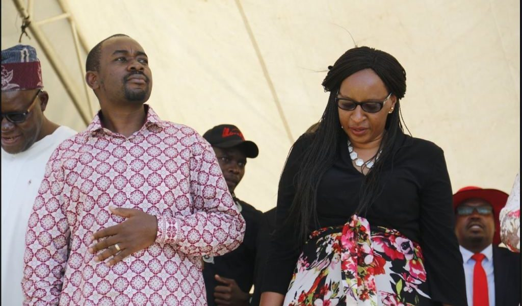 Nelson Chamisa and wife Sithokozile