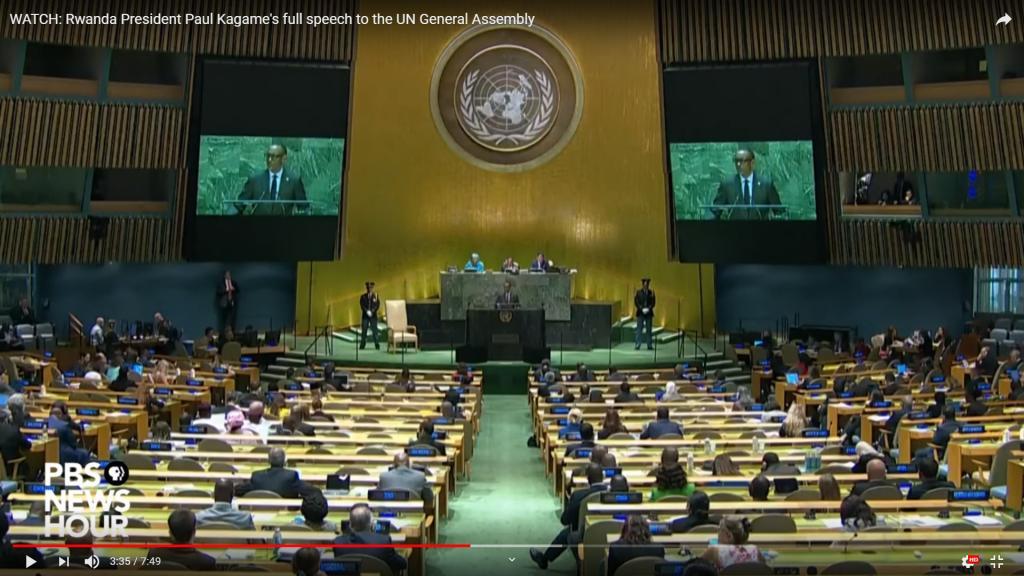 #unga74 Rwanda Kagame Speech