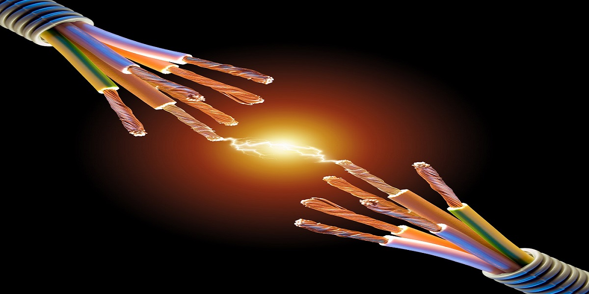 Copper Cables Electrocuted Live Wire