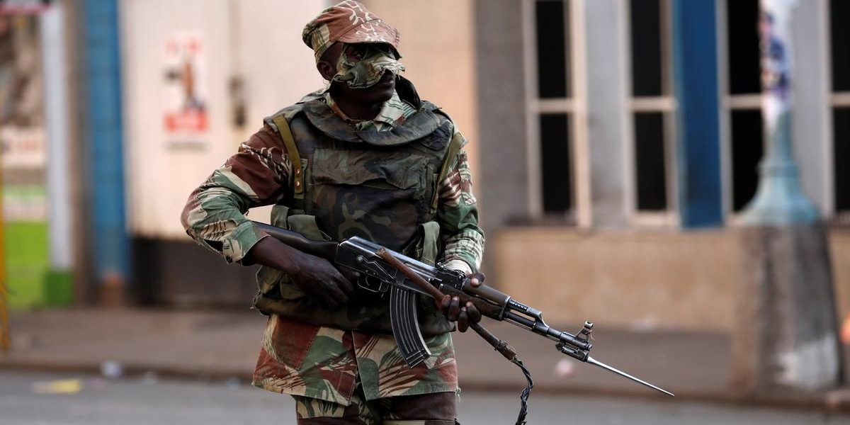 MASKED Armed SOLDIER ZIMBABWE