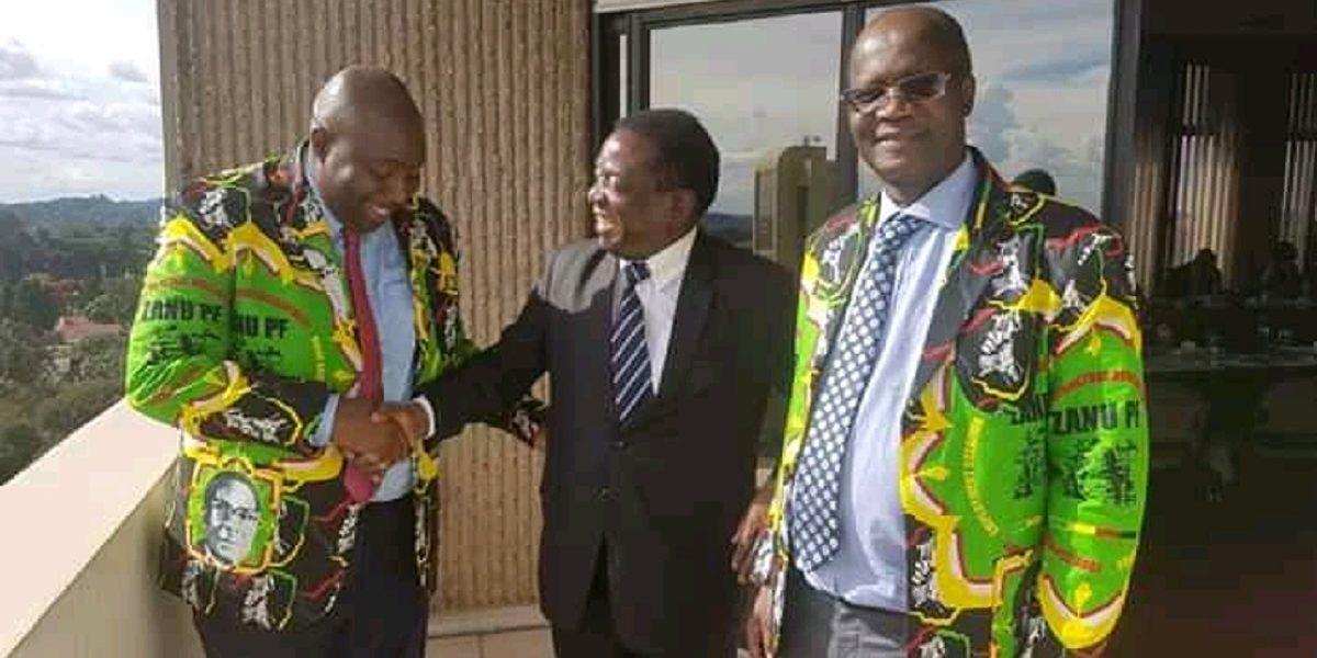 Emmerson Mnangagwa, Saviour Kasukuwereand Jonathan Moyo