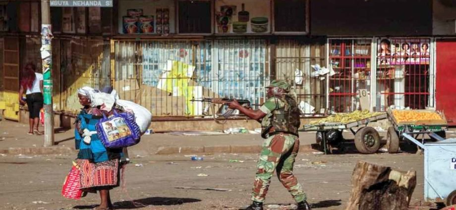 Zimbabwe National army robbers uniforms