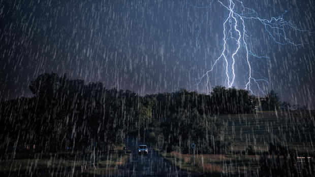 WEATHER: Heavy Downpours Rainfall, Thunderstorm, Lightning