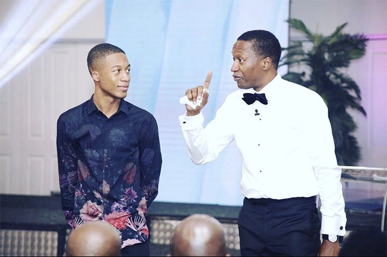 Uebert Angel and son