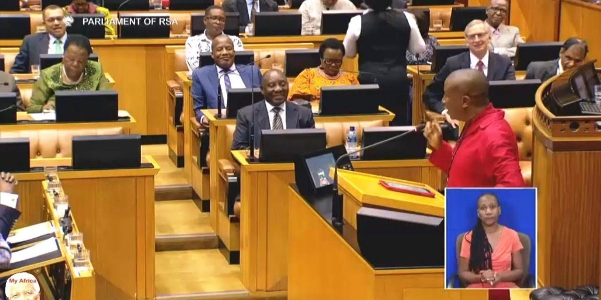JULIUS MALEMA AND CYRIL RAMAPHOSA IN PARLY EFF refused meeting