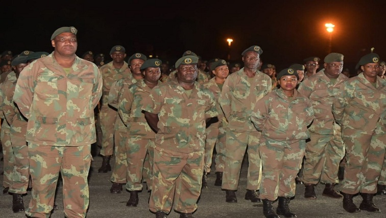 South Africa National Defence Force (SANDF) deployment Nkandla