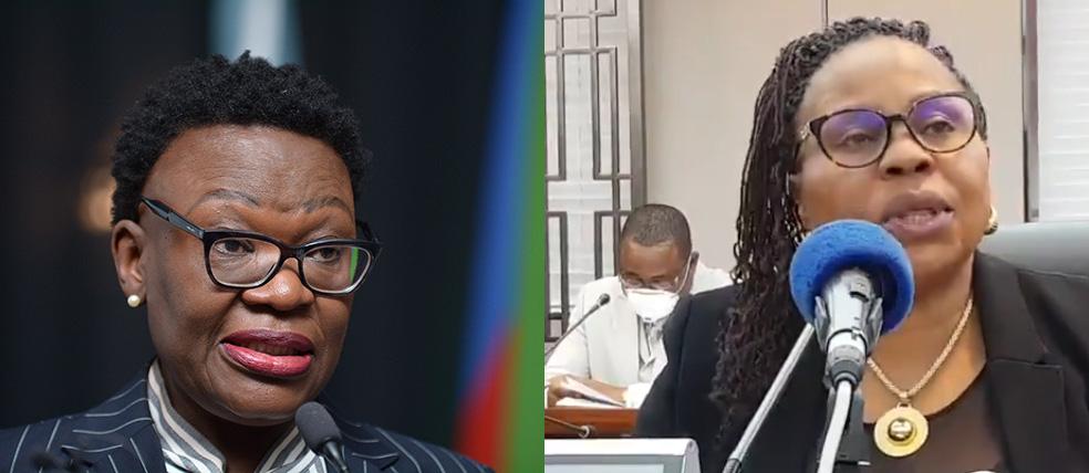 Selma Ashipala-Musavyi and Monica Mutsvangwa