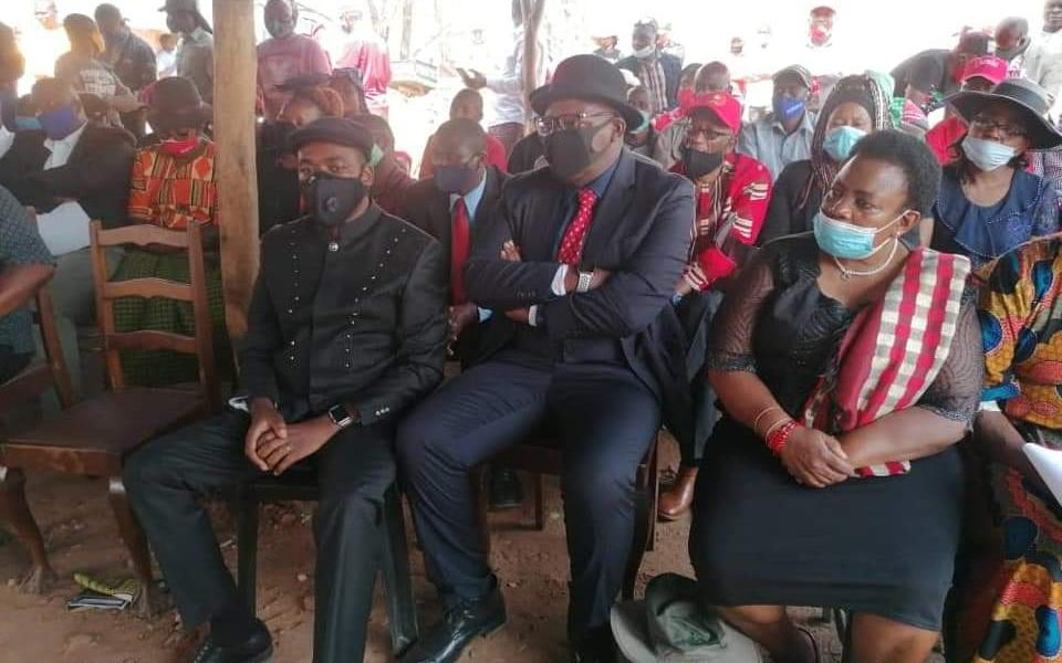 MDC Alliance leaders at a funeral